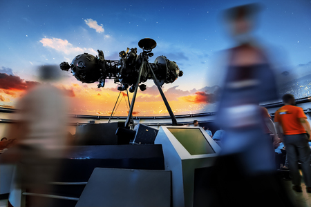 replaced: BANGKOK, THAILAND - MAY 1: Planetarium in Bangkok, Thailand on May 1, 2015. Zeiss Mark IV, a 51-year old projector will be discharged and replaced by a modern planetarium at Bangkok Planetarium
