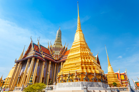 temple tower: The Temple of Emerald Buddha in Bangkok, Thailand