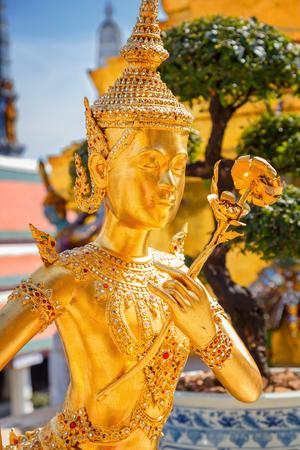 the emerald city: Demon Guardian at Wat Phra Kaew - the Temple of Emerald Buddha in Bangkok, Thailand Stock Photo