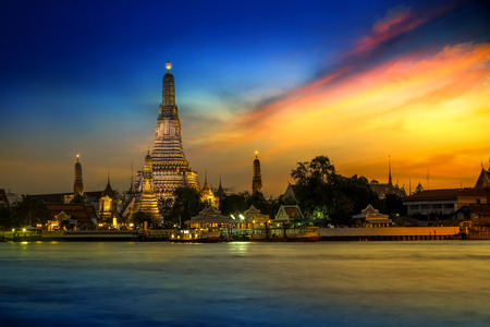 temple tower: Wat Arun  - the Temple of Dawn in Bangkok, Thailand