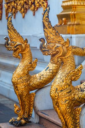 wat bowon: Mythical Sculpture at Wat Bovorn Bowon Nivet Viharn in Bangkok, Thailand Editorial