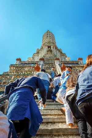 existed: Wat Arun (Arun Temple) in Bangkok  BANGKOK, THAILAND - JANUARY 2: Wat Arun in Bangkok, Thailand on January 2, 2015. Socalled Temple of the Dawn had existed at the site since the 17th century - time of the Ayutthaya Kingdom