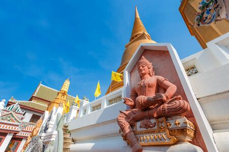 wat bowon: God of Music at Wat Bovorn Bowon Nivet Viharn in Bangkok, Thailand Stock Photo