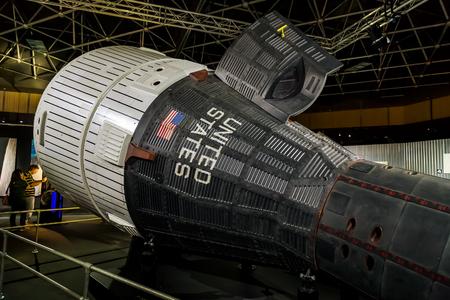 sattelite: BANGKOK, THAILAND - DECEMBER 20: NASA Exhibition in Bangkok, Thailand on December 20, 2014. A space technology showcase thats set to commemorate the 180th anniversary of Thai-US relations