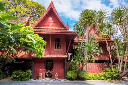 jim: BANGKOK, THAILAND - DECEMBER 30: Jim Thompson Museum in Bangkok, Thailand on December 30, 2014. The House of   the founder of the world renowned Jim Thompson Thai Silk Company. He dissapered on a trip in Malaysia in 1967