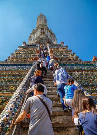 Wat Arun (Arun Temple) in BangkokBANGKOK, THAILAND - JANUARY 2: Wat Arun in Bangkok, Thailand on January 2, 2015. Socalled