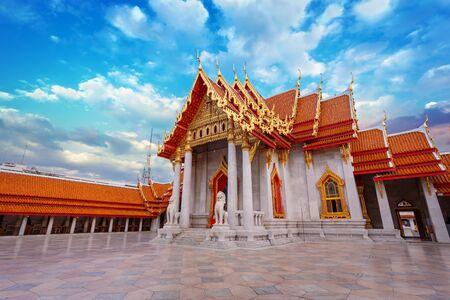 temple thailand: The Marble Temple, Wat Benchamabopit Dusitvanaram in Bangkok, Thailand