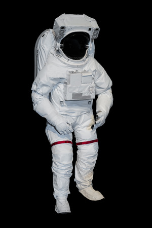 sattelite: Isolate Spacesuit on Black Stock Photo