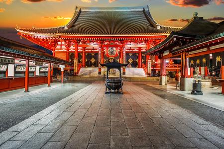 buddhist temple: Senso-ji Temple (Asakusa Kannon) in Tokyo, Japan Stock Photo