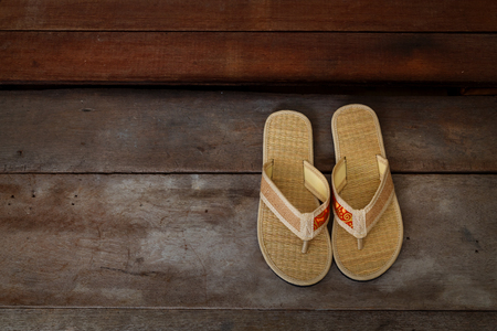 ryokan: Japanese Sandals in front of a Japanese House