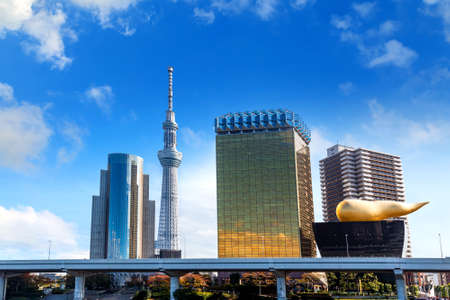 oshiage: Tokyo, Japan - November 15 2015: Tokyo Skytree is the tallest tower in the world and the tallest structure in Japan