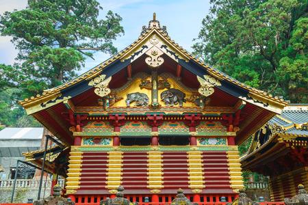 grave site: Nikko Toshogu Shrine in Nikko, Tochigi, Japan  NIKKO, JAPAN - NOVEMBER 17, 2015: The final resting place of Tokugawa Ieyasu, the first Shogun of the Tokugawa clan, initially built in 1617. Its the most famous Toshogu shrine in Japan.