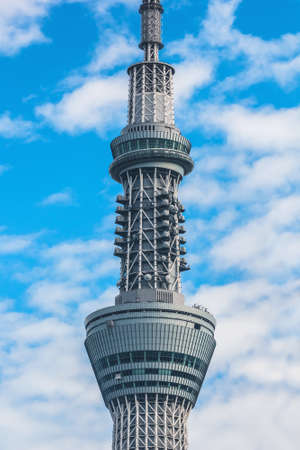 oshiage: TOKYO, JAPAN - NOVEMBER 15, 2015: Tokyo Skytree is the tallest tower in the world and the tallest structure in Japan Editorial