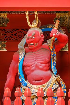 benevolent: Nio - the Benevolent Kings at Nio-mon Gate of Taiyuinbyo - the Mausoleum of Shogun Tokugawa Iemitsu  NIKKO, JAPAN - NOVEMBER 17, 2015: Nio - the Benevolent Kings at Nio-mon Gate of Taiyuinbyo - the Mausoleum of Shogun Tokugawa Iemitsu, the grandson of Iey