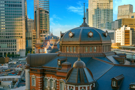 number 15: TOKYO, JAPAN - NOVEMBER 15, 2015: Tokyo Station opened in 1914, a major a railway station and its the busiest station in Japan in terms of number of trains per day Editorial