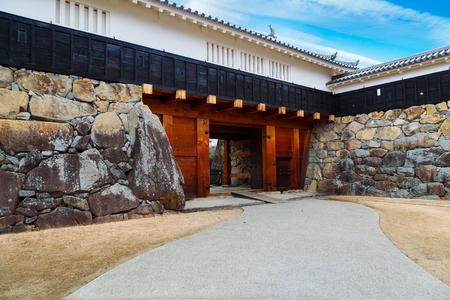 matsumoto: Ninomon (Inner Gate) at Matsumoto Castle in Matsumoto City, Nagano, Japan   MATSUMOTO, JAPAN - NOVEMBER 21, 2015: Ninomon (Inner Gate) at Matsumoto Castle in Matsumoto City, Nagano, Japan