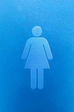 Gentleman and a lady toilet sign