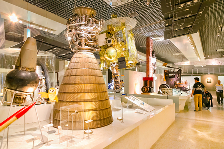 propulsion: TOKYO, JAPAN - NOVEMBER 25 2015: National Museum of Nature and Science offers a wide variety of natural history exhibitions and interactive scientific experiences