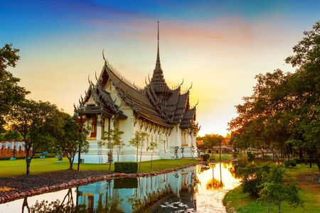 thai temple: Sanphet Prasat Palace in Thailand  BANGKOK, THAILAND - December 30 2015: Sanphet Prasat Palace, one of the most beautiful ancient Thai architecture living artforms Editorial