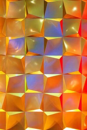 Abstract Metallic Background Decorated with Coloful Lighting