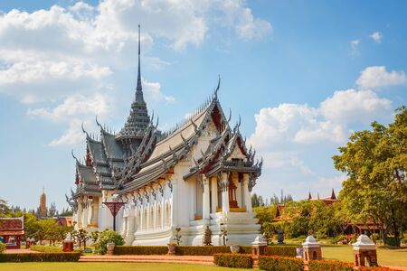 Sanphet Prasat Palace in Thailand  BANGKOK, THAILAND - December 30 2015: Sanphet Prasat Palace, one of the most beautiful ancient Thai architecture living artforms Editorial