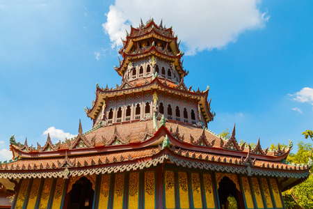 octagonal: Phra Kaew Pavilion in Thailand  BANGKOK, THAILAND - DECEMBER 30 2015: Phra Kaew Pavilion is wooden octagonal shape structure where houses importatnt wooden image Buddha statue the architecture decorated with traditional thai arts