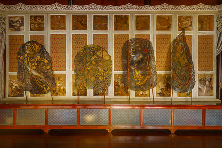 shadow puppets: BANGKOK, THAILAND - DECEMBER 30 2015:  Thai traditional shadow puppets