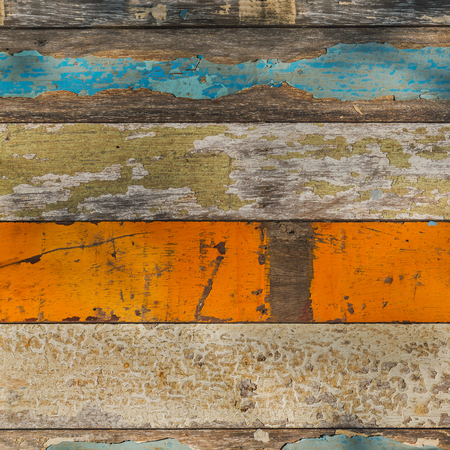 absract art: Old Wood Panel with Various Pale Painted Colors