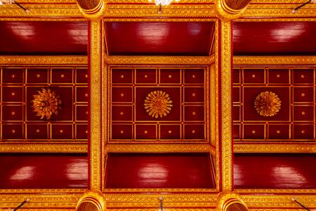 PHITSANULOK, THAILAND - NOVEMBER 4 2016: The roof of the main hall of Phra Phuttha Chinnarat Buddha Image at Wat Phra Si Rattana Mahathat Temple