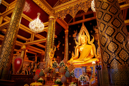 Phra Phuttha Chinnarat Buddha Image at Wat Phra Si Rattana Mahathat Temple, one of the three most highly respected Buddha images in Thailand