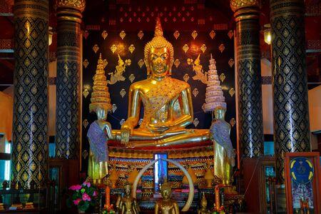 Phra Phuttha Chinnasi Buddha Image at Wat Phra Si Rattana Mahathat Temple in Phitsanulok, Thailand