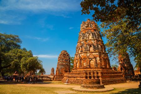 ayuthaya: Wat Mahathat Temple in Ayuthaya Historical Park, a UNESCO world heritage site, Thailand Stock Photo