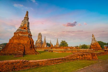 ayuthaya: Wat Chaiwatthanaram temple in Ayuthaya Historical Park, a UNESCO world heritage site, Thailand