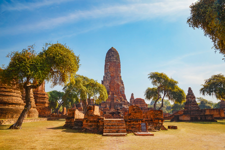 Wat Phra Ram Temple in Ayuthaya Historical Park, a UNESCO world heritage site in Thailand