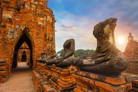 Wat Chaiwatthanaram temple in Ayuthaya Historical Park, a UNESCO world heritage site, Thailand Фото со стока - 81180571