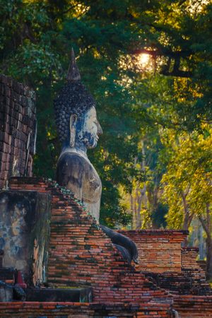 Wat Mahathat Temple in the precinct of Sukhothai Historical Park, a site in Thailand.