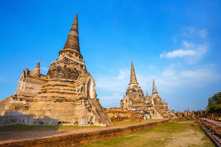 si: Wat Phra Si Sanphet temple in Ayutthaya Historical Park, a UNESCO world heritage site, Thailand