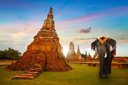ayuthaya: Wat Chaiwatthanaram temple in Ayuthaya Historical Park, a UNESCO world heritage site   AYUTHAYA, THAILAND - NOVEMBER 4 2016: Wat Chaiwatthanaram temple in Ayuthaya Historical Park, a UNESCO world heritage site Editorial