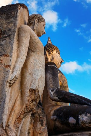 ayuthaya: Wat Phra Si Rattana Mahathat - Chaliang in the precinct of Si Satchanalai Historical Park, a UNESCO World Heritage Site in Thailand  SUKHOTHAI, THAILAND - JANUARY 17 2017: Wat Phra Si Rattana Mahathat - Chaliang in the precinct of Si Satchanalai Historica