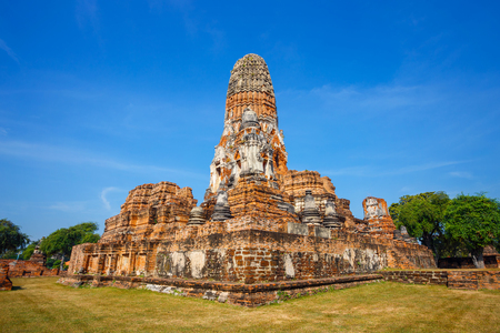 spiritual architecture: Wat Phra Ram Temple in Ayuthaya Historical Park, a UNESCO world heritage site in Thailand   AYUTHAYA, THAILAND - NOVEMBER 4 2016: Wat Phra Ram Temple in Ayuthaya Historical Park, a UNESCO world heritage site