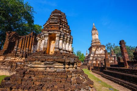 Wat Chedi Jet Thaew at Si Satchanalai Historical Park,   in Thailand