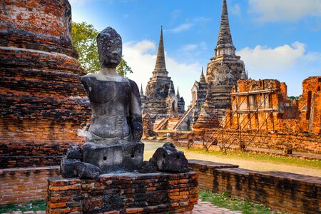 Wat Phra Si Sanphet temple in Ayutthaya Historical Park, a world heritage site, Thailand