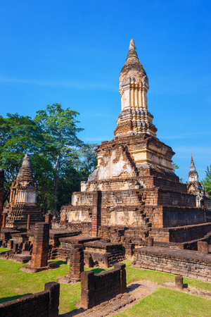 Wat Chedi Jet Thaew at Si Satchanalai,Thailand