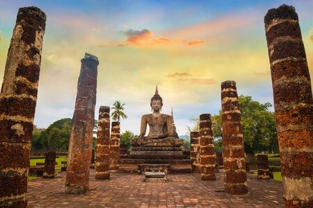 Wat Mahathat Temple at Sukhothai Historical Park in Thailand