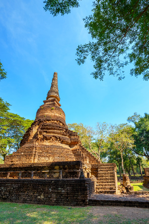 Wat Nang Phaya Temple at Si Satchanalai Historical Park, a UNESCO World Heritage Site in Sukhothai, Thailand