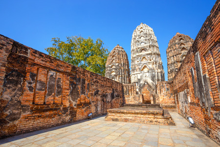 Wat Si Sawai Temple at Sukhothai Historical Park Stock Photo