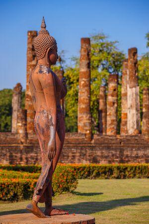 Wat Sa Si Temple at Sukhothai Historical Park Stock Photo