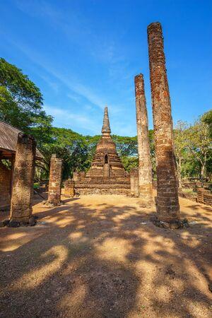 Wat Nang Phaya Temple at Si Satchanalai Historical Park, Thailand Stock Photo