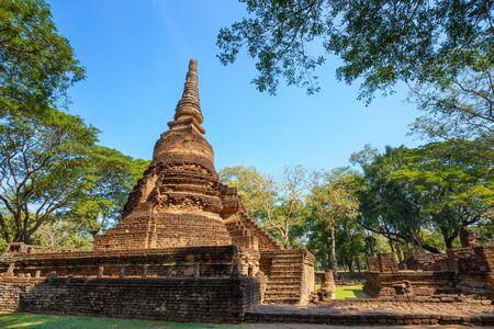 Wat Nang Phaya Temple in Si Satchanalai Historical Park in Sukhothai, Thailand Stock Photo