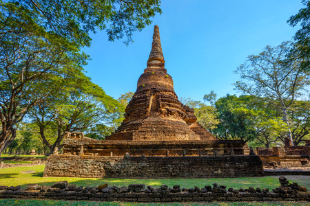 tourist site: Wat Nang Phaya Temple at Si Satchanalai Historical Park, a UNESCO World Heritage Site in Sukhothai, Thailand